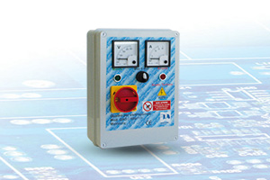 QAD1-400P-VA - Quadro avviatore diretto per Elettropompe Trifase A 400V Da 0,50HP A 15HP Con Voltmetro - Amperometro