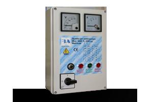 QAD1L-240P VA - Quadro avviatore diretto per piccole elettropompe monofase a 230 V DA 0,50HP A 3HP. Con Voltmetro/Amperometro