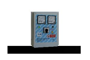 QAD2-240P VA - Quadro avviatore diretto per piccole elettropompe monofase a 230 V DA 0,50HP A 3HP. Con Voltmetro/Amperometro