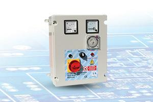 QAD2-400 VA-OR-RL - Quadro avviatore diretto per Elettropompe Trifase A 400V Da 0,50HP A 15HP Con Orologio Giornaliero e Voltmetro - Amperometro e Relè di Livello